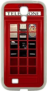 Rikki KnightTM British Phone Booth Design Samsung? Galaxy S4 Case Cover (White Hard Rubber TPU with Bumper Protection) for Samsung Galaxy S4 i9500