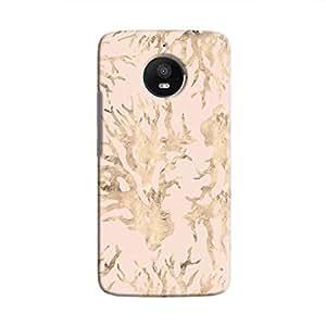 Cover It Up - Pink Pastel Nature Print Moto E4 Plus Hard Case
