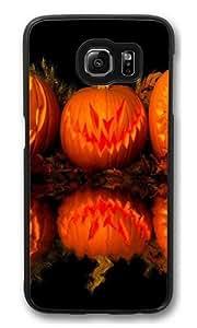 Gresskar Halloween Polycarbonate Hard Case Cover for Samsung S6/Samsung Galaxy S6 Black