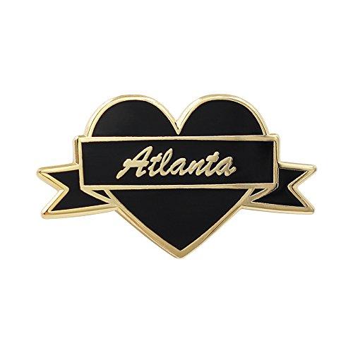 Real Sic I Heart Atlanta Lapel Pin I Love Atlanta Souvenir Pin for Jackets, Backpacks, Bags, Hats & Tops ()
