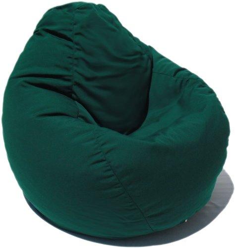 Sunbrella Indoor/Outdoor Bean Bag Chair in Hunter Green