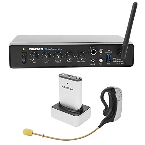 Samson AirLine Micro UHF Wireless Earset Microphone+Mixer+Transmitter+Receiver by Samson Technologies