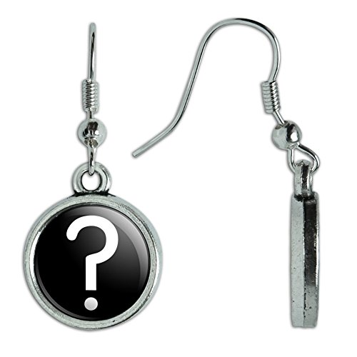 (Novelty Dangling Drop Charm Earrings Symbols - Mystery Question)