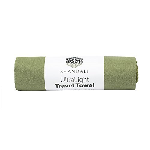 Shandali Microfiber Travel & Sports Towel. Absorbent, Fast Drying & Compact. Great for Yoga, Gym, Camping, Kitchen, Golf, Beach, Fitness, Pool, Workout, Sport, Dish or Bath.