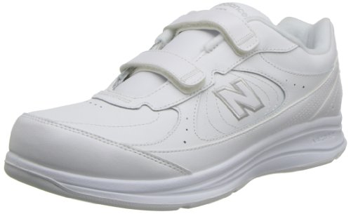New Balance Men's MW577 Hook and Loop Walking Shoe, White, 10 D US