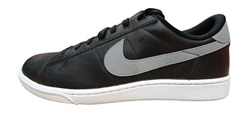 Sneaker De Mode En Cuir Classique Nike Hommes Noir / Platine / Blanc
