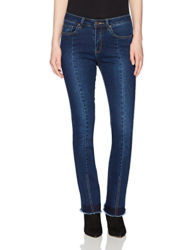 Lily Parker Women's Unique Bootcut Bell-Bottom Flare Jeans 26 Dark Blue