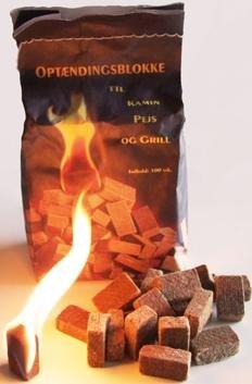 100 Stück natürlicher Ofenanzünder aus Holzfaser # Grillanzünder Kaminanzünder Feueranzünder Anzündwürfel Anzündhilfe Holzanzünder