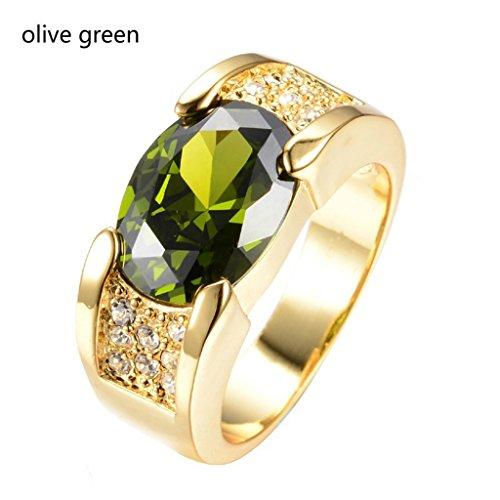 Women Gold Zircon Diamond Ring Jewelry Diamond Ring Wedding Engagement/Valentine