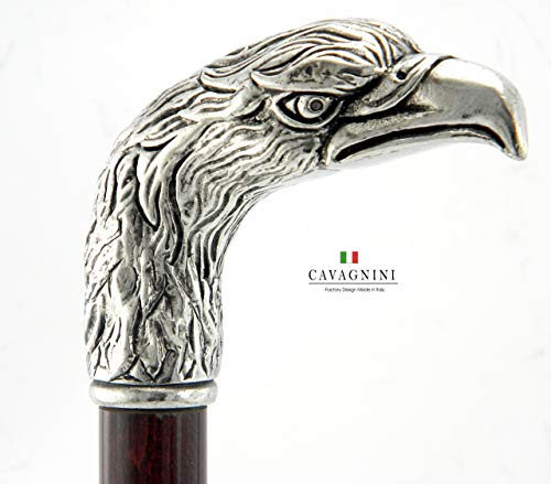 - Walking Canes for men Metal Wood Big Eagle Black Medical Ornament for Women for Men Gifts Cavagnini Old People Personalized Made in italy