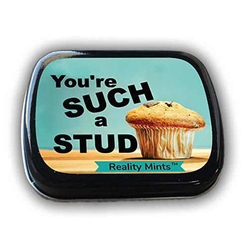 GearsOut You're a Stud Muffin Mints Cute Gags for Men Weird Stocking Stuffers Wintergreen Breath Mints Secret Santa Valentine's Day for Boyfriend Husband Fiancé ()