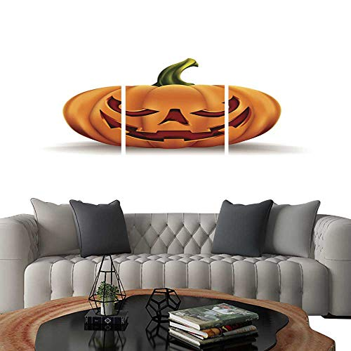 (UHOO 3 Piece Wall Art Painting Halloween Pumpkin Isolated on White background15. Living Room Kitchen)