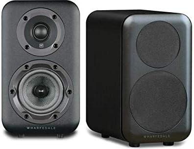 Pair Black Wharfedale D310 Bookshelf Speaker