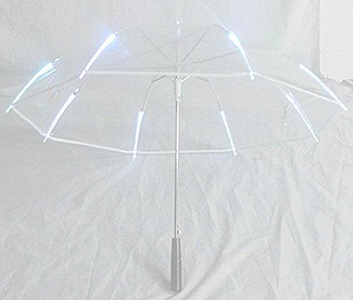 New Arrival Rib Light up Blade Runner Style LED Umbrella with Flashlight (White) (Umbrella Led)