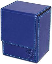 BCW Deck Case LX Leatherette | Holds 80 Sleeved Cards Blue 1-DCLX-BLU | (1-Unit)