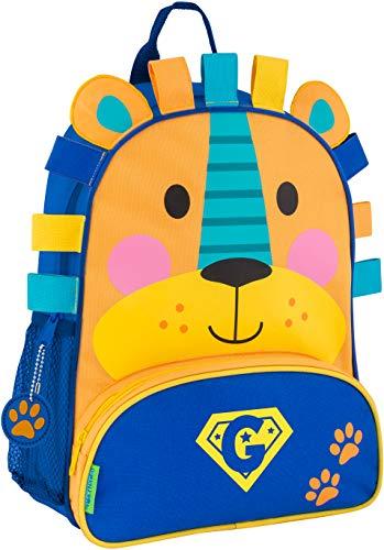 (Monogrammed Me Sidekick Backpack, Blue Lion, with SuperHero Monogram G)