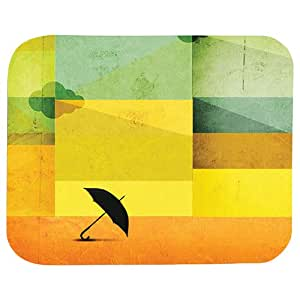 Umbrella Print 22 X 18 Cm Mouse Pad For Pc & Laptop, Multi Color