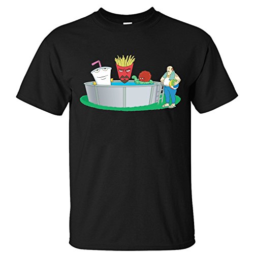 HumP Men's Aqua Teen Hunger Force Characters Short Sleeve Cotton T Shirt black M (What Is A Nice Thank You Gift)