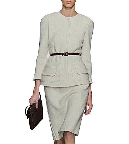 Hego Womens White Sleeve Skirt product image
