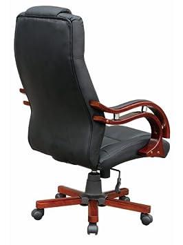 Bürosessel  schwarz LEDER Bürosessel Drehstuhl Chefsessel Bürostuhl Stuhl ...
