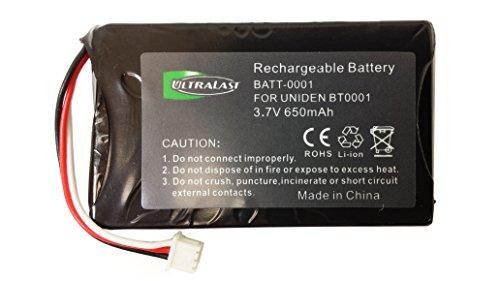 UL001 - Li-Ion, 3.6 Volt, 900 mAh, Ultra Hi-Capacity Battery - Replacement Battery for Uniden BT-001, BBTY0531001 fits DX770, DMX-776 Cordless Phone Battery