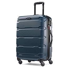 Samsonite Omni PC Hardside Luggage, Teal, Checked-Medium