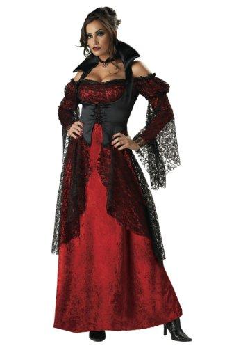 Incharacter Womens Sexy Vampiress Elite Collection Full Gown Halloween Costume, Medium (8-10)