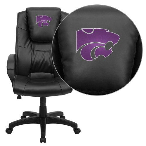 Flash Furniture Kansas State University Wildcats Embroidered Black Leather Executive Office Chair