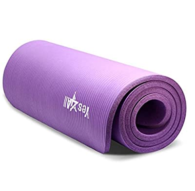 Purple Yoga Mat Thich Excercise None Slip For Fitness Gym pad 68 inch
