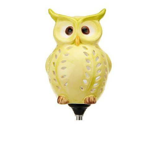 Cute Little Owl Garden Decoration, Best Solar Owl Stake And Solar Owl Light, Ceramic Owl Scarecrow Garden Decor For Your Lawn and Garden ()
