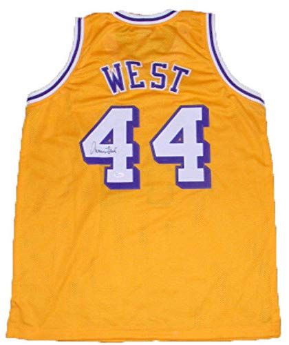 8a928e189db Image Unavailable. Image not available for. Color  Los Angeles Lakers Jerry  West Autographed Signed  44 Gold Basketball Jersey JSA
