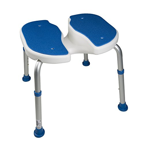 Pcp Padded Bath Safety Seat with Hygienic Cutout, White/Blue
