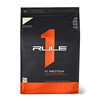 Image of R1 Protein Whey Isolate/Hydrolysate, Rule 1 Proteins (152 Servings, Vanilla Creme) Health and Household