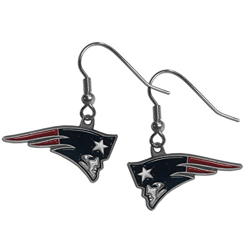 (NFL New England Patriots Dangle Earrings)