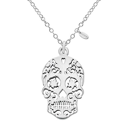 (SENFAI Stainless Steel Sugar Skull Pendants Necklace Charm Unisex Fashion Jewelry (1))