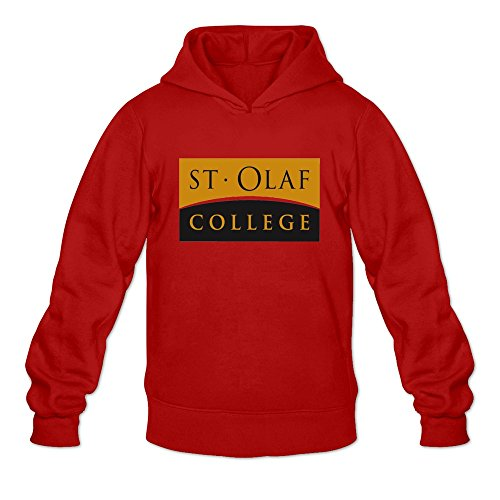 Price comparison product image Tavil Saint Olaf College 100% Cotton Hoodies For Boyfriend Red Size Medium