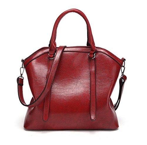 Nodykka Vintage Leather Red Hobo Satchel Handle Shoulder Bag Top Tote Crossbody Women Handbags Uw4XrqxTU