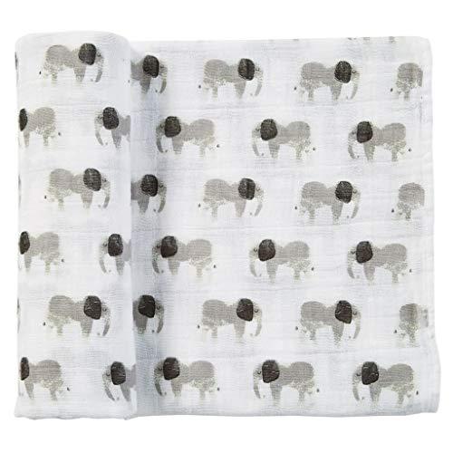 Mud Pie Newborn Blankets - Mud Pie Muslin Elephant Swaddle Blan