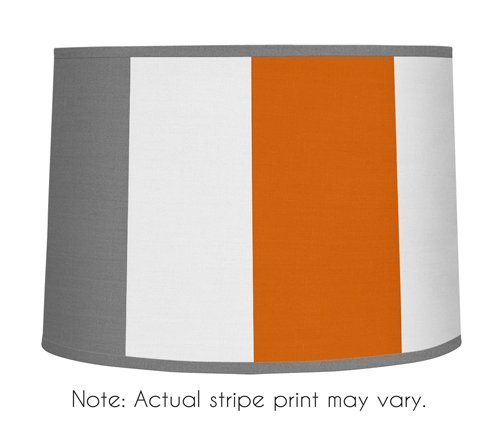 Sweet Jojo Designs Gray and Orange Stripe Lamp Shade