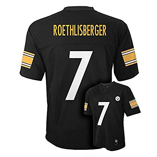 Ben Roethlisberger Pittsburgh Steelers Nfl Youth Black Home Mid Tier Jersey  Size Medium 10 12