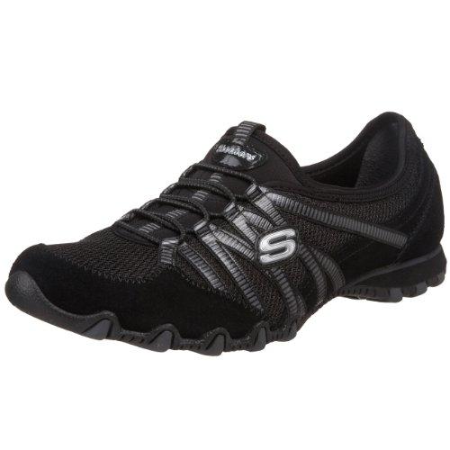 Skechers Sport Women's Hot Ticket Fashion Sneaker,Black/Charcoal,7 M US