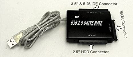 "Element UB-2235S IDE SATA to USB Adapter 2.5/"" 3.5/"" 5.25/"" IDE SATA Drive to USB"