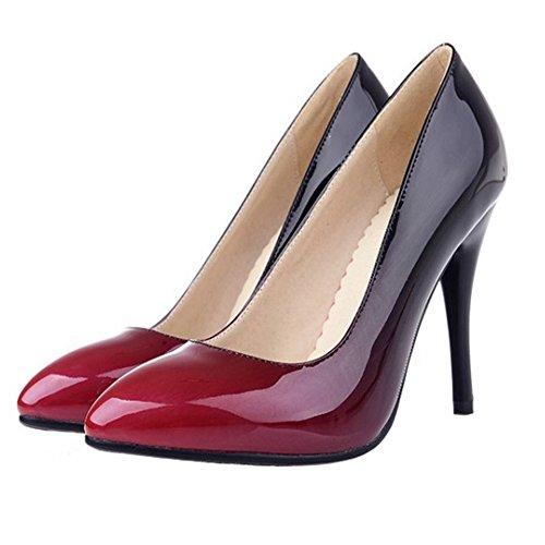 Black à Bout Chaussures 4 Fermé Haut à TAOFFEN Escarpins Enfiler Briller Talon Femmes wRAEq8XaP