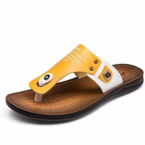 estate Il nuovo Scarpe da spiaggia Uomini gioventù personalità Uomini Tempo libero Uomini sandali infradito tendenza ,giallo,US=7?UK=6.5,EU=40?CN=40