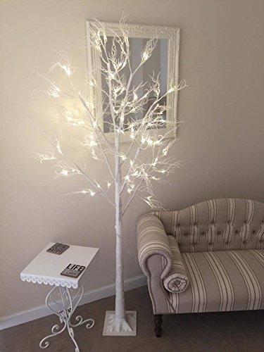 garden mile luxe 6ft 180cm shabby chic givr scintillant nol blanc ramille arbre pr clair