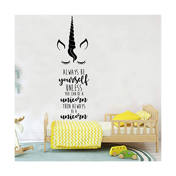 Unicorn Wall Sticker Bedroom Decal Kids Room Wall Decoration for Girls 4
