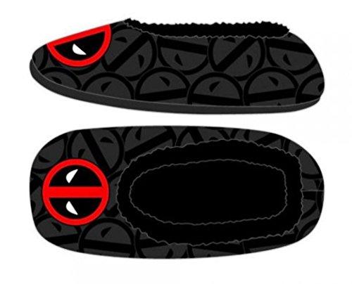 Marvel Comics Deadpool Logo Cozy Unisex Adult Slippers (Small/Medium) from New Horizons Production