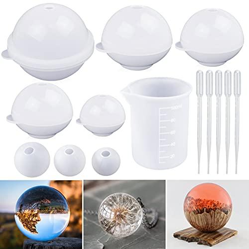 Moldes de silicona para resina - modelo esferas