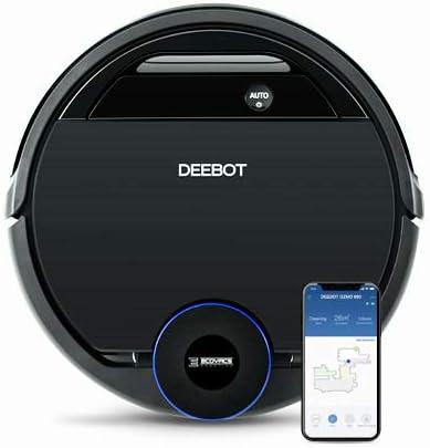Ecovacs Deebot OZMO 930 - Robot Aspirador 4 en 1: barre, aspira, pasa mopa y friega, mapeo inteligente láser, compatible con Alexa, App, Wifi, reanuda limpieza tras recarga, reporte por voz, alfombras: