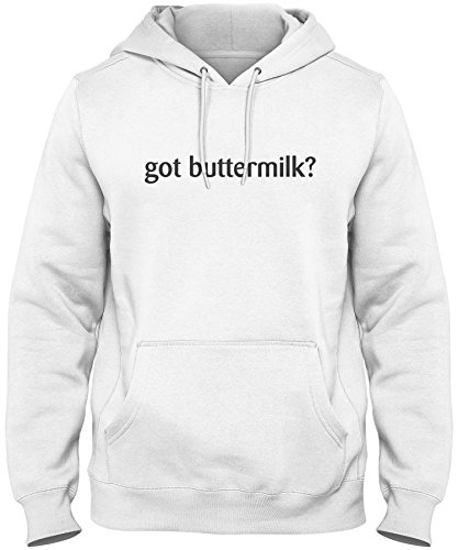 shirtloco Men's Got Buttermilk Hoodie Sweatshirt, White Extra Large ()